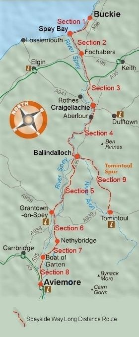 Speysideway Sections Map