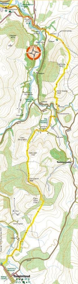Tomintoul Spur map