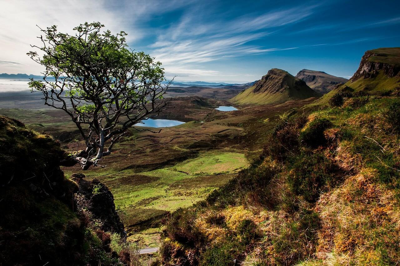 Scotland Highland mountaing landscape